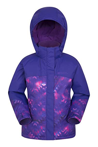 2671199ec Mountain Warehouse Flurry Printed Ski Jacket – Snowproof Kids Coat ...