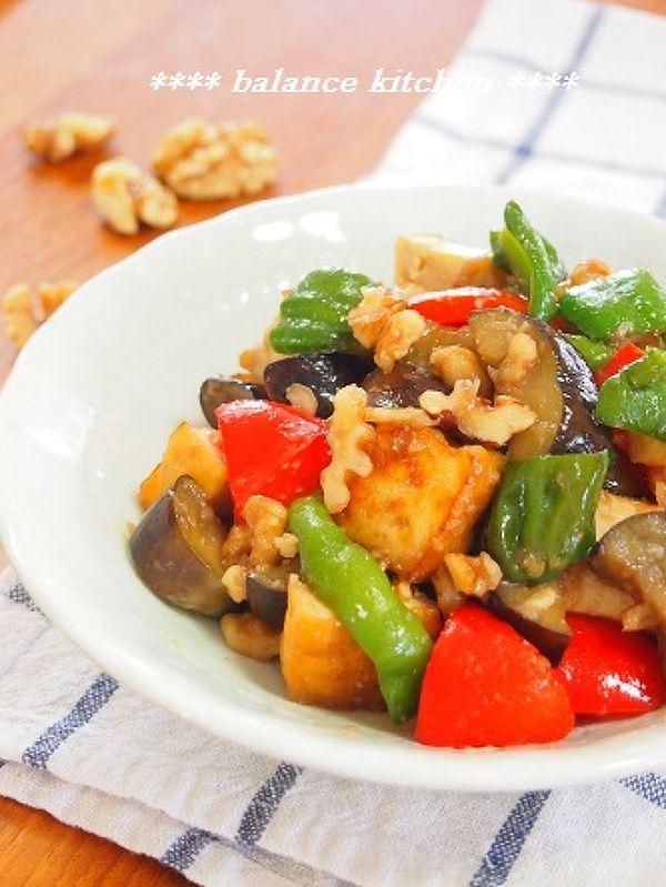 くるみ入り 茄子とピーマンの味噌炒め by 河埜 玲子 | レシピサイト「Nadia | ナディア」プロの料理を無料で検索