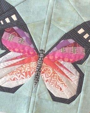 """Schmetterling aus der Serie """"Nähen-nach-Zahlen"""" wird auf Papier genäht - Nähanleitung via Makerist.de"""