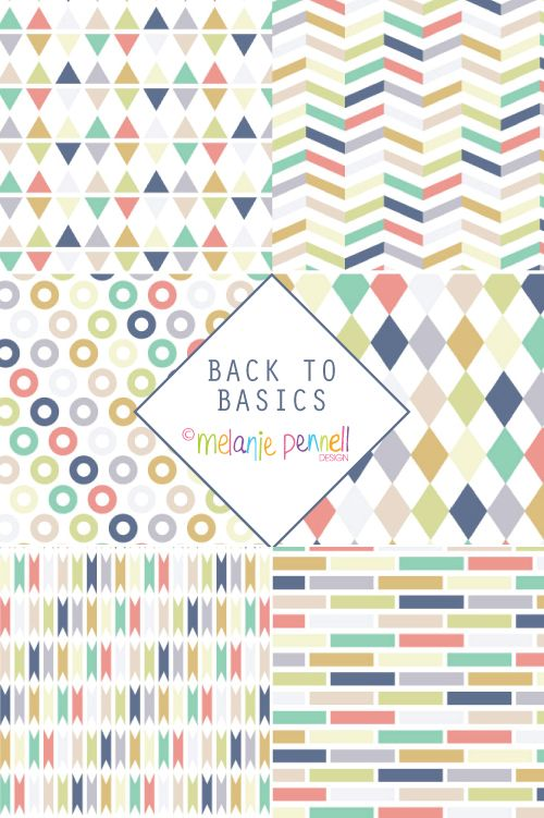 Back to Basics © Melanie Pennell Design Surface Pattern Design