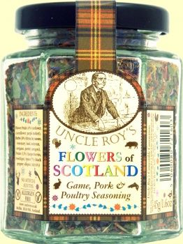Flowers of Scotland Found this jar in a shop on Skye. Love this. Not often I endorse but these are good. http://www.uncleroys.co.uk/flower-petal-seasonings/flowers-of-scotland.html