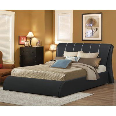 Courtney Upholstered Panel Bed Size: Full, Color: White - http://delanico.com/beds/courtney-upholstered-panel-bed-size-full-color-white-623927328/