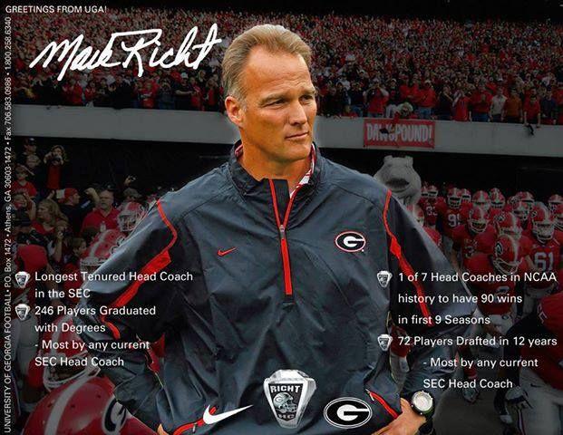 Mark Richt, Head coach, Georgia Bulldogs