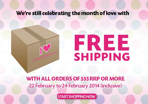 Celebrating the month of love with Nutrimetics & FREE SHIPPING  Order online at https://www.nutrimetics.com.au/cyndi