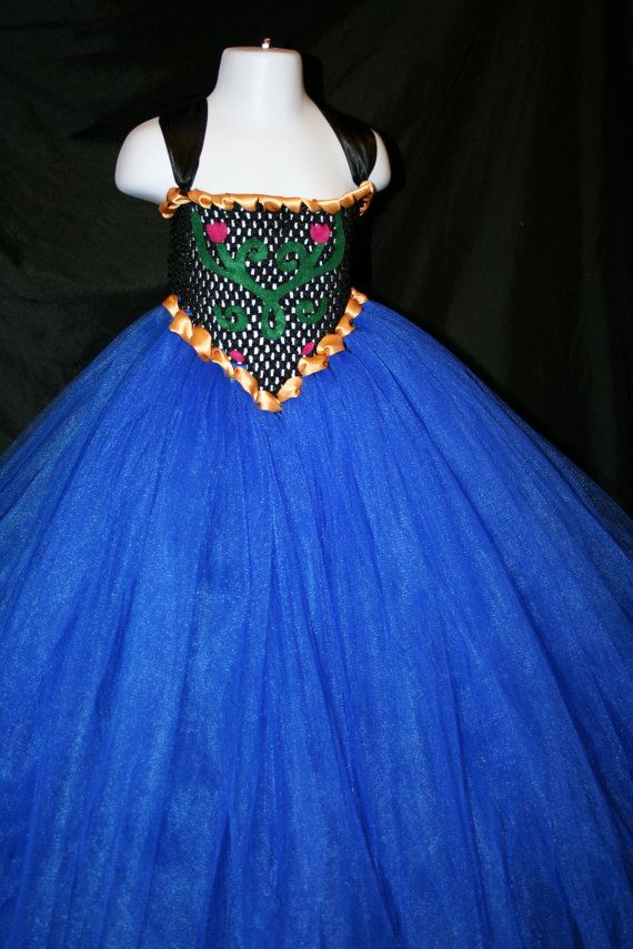 Princess Anna Inspired Tutu Dress, Anna Tutu Dress, Anna Costume, Princess Anna Winter Clothes Tutu Dress, Princess Anna Tutu Dress