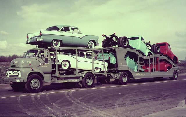 1955 ford coe with 55 fords by pacarhauler via flickr for Motor city towing detroit