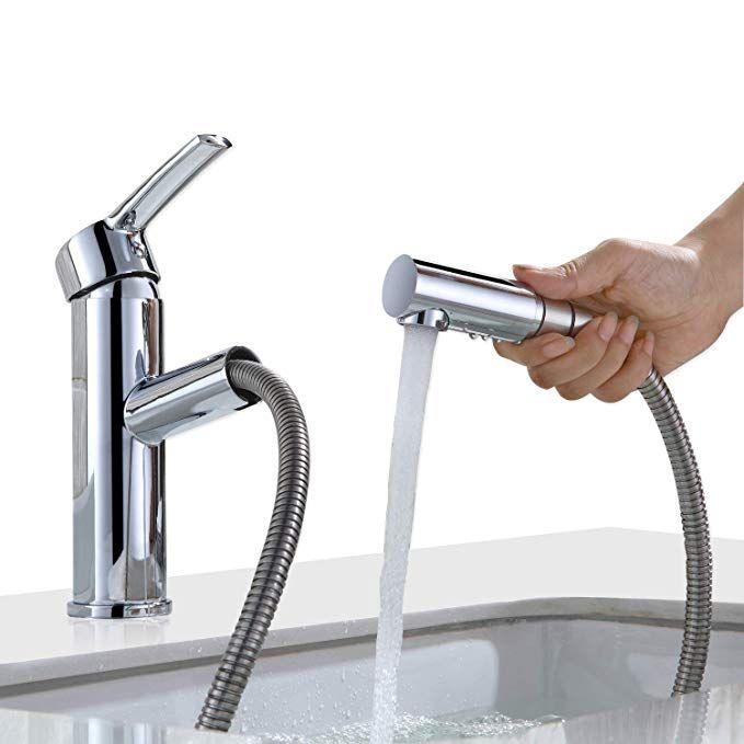Homelody Waschtisch Armatur Bad Wasserhahn Mit Ausziehbarem Brause Mischbatterie Waschbeken Einhebelmisch Waschtischarmatur Waschbecken Armaturen Armaturen Bad