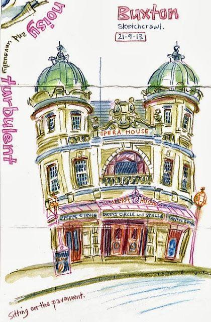 Lynne Chapman: Buxton Opera House. An Illustrator's Life For Me!