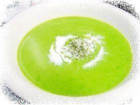 「グリーンピース ポタージュ」グリーンピースの美味しさを味わえるポタージュスープ。春の香りいっぱいです。目の覚めるような綺麗な色に仕上がりますよ。【楽天レシピ】