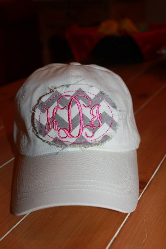 Hey, I found this really awesome Etsy listing at http://www.etsy.com/listing/155217212/womens-monogram-patch-chevron-ball-cap