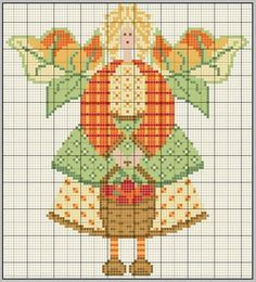 gazette94: ANGE DE L'AUTOMNE; Autumn Angel from France- Could be done in cross stitch or needlepoint