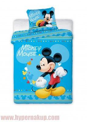 Krásne licenčné obliečky s Disney myšiakom  Mickey  Mouse o rozmere 100x135 cm su vyrobené z vysoko kvalitnej 100% bavlny. Obliečky sa vyznačujú veľmi sýtymi farbami, ktoré pretrvávajú aj po mnohých praniach. Určené do detskej postieľky.Samozrejmosťou je komfortný zipsový uzáver. Posteľná bielizeň je príjemná na dotyk.Materiál : 100% bavlnaZapínanie na zips.Odporúčame prať naruby pri 40 ° C.Detské obliečky Disney Mickey Mouse blue 100 x 135 cm | PREDAJ | HYPERNAKUP.COM