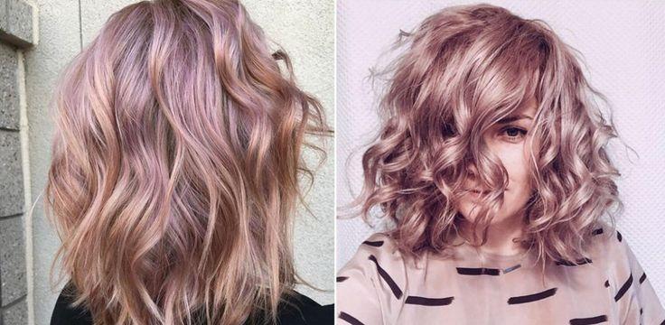Nowy, zmrożony, metaliczny róż na włosach mieni się srebrnymi refleksa