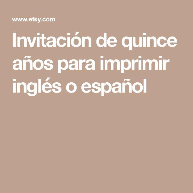 8 best invitaciones images on Pinterest Filo, Invitation ideas and - best of invitation english