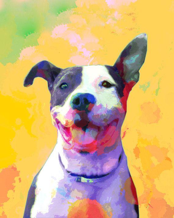 Custom dog portrait Custom pet portrait Dog by MelaCustomPortraits