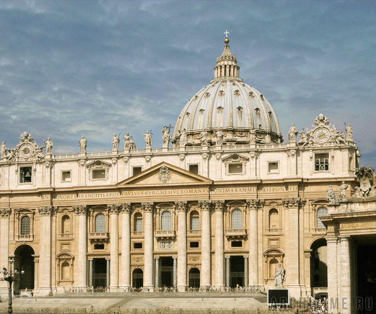 Донато Браманте. Собор Св. Петра в Ватикане. (Проектирование и начало строительства). Рим, Италия. (1506-1514 гг.).