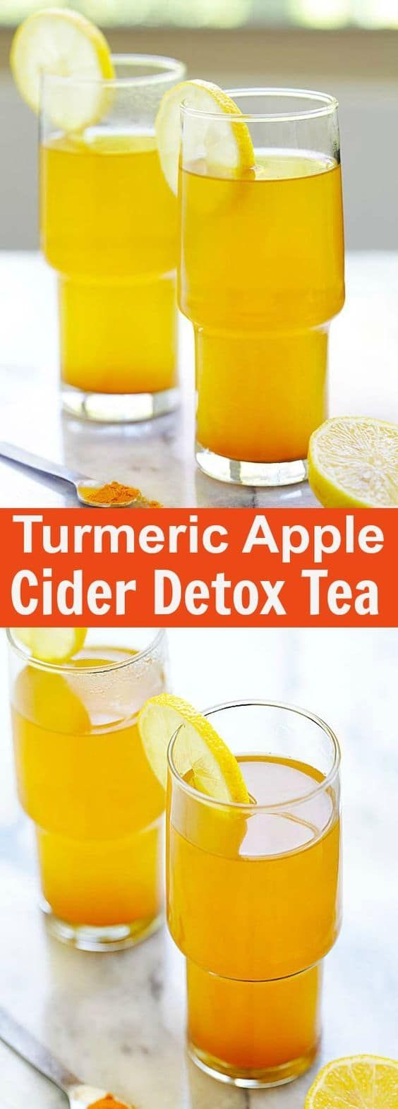 Turmeric and Apple Cider Vinegar Detox Tea – healthy detox tea made with turmeric, apple cider vinegar and honey. A beverage that you can drink daily   rasamalaysia.com