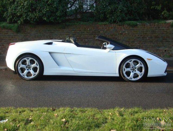 2008 (08) Used Lamborghini Gallardo Spyder   Balloon White
