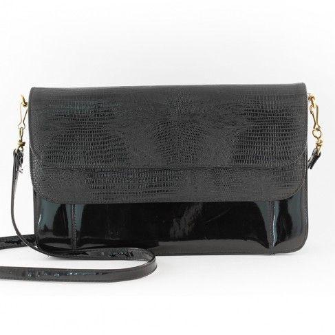 Grand sac vernis noir