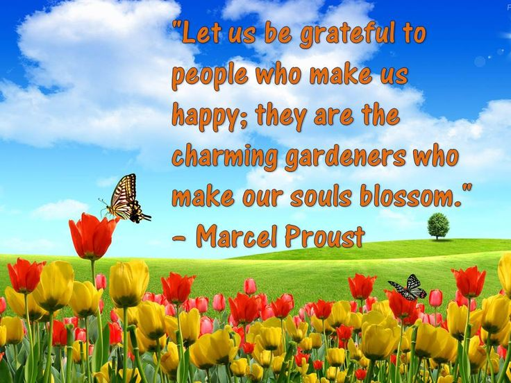 """""""Let us be grateful to people who make us happy; they are the charming gardeners who make our souls blossom."""" – Marcel Proust #teemingconnections"""