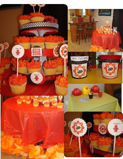 My daughter wanted a firefighter party for her 3rd birthday....this is what I came up with...oh, and the fireman from close by brought the firetruck...So Fun!