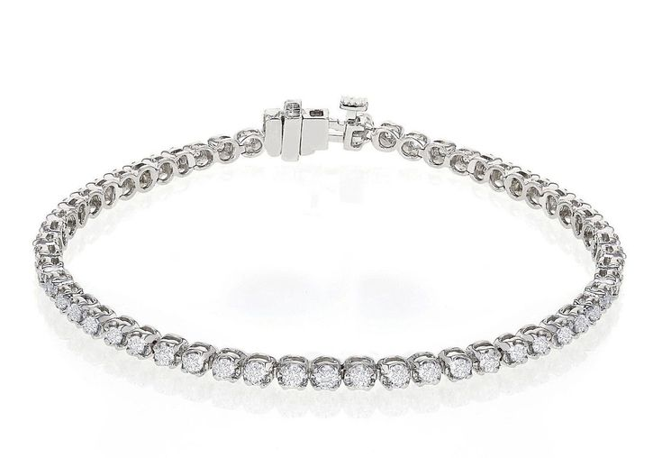 Diamantarmband mit 2.60 Karat Diamanten aus 585er Weißgold bei www.diamantring.be für nur 3799.00 Euro Versandkostenfrei bestellen.
