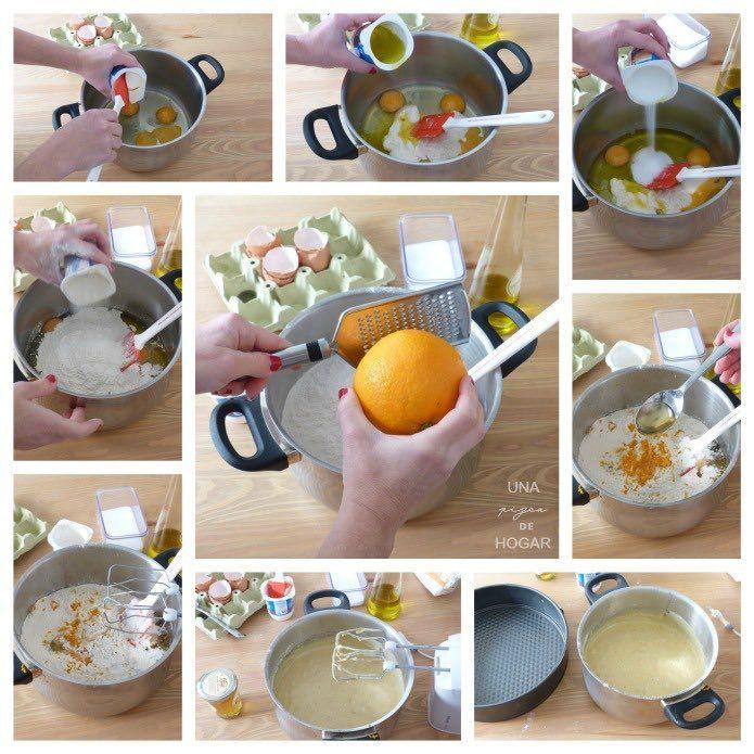 Bizcocho de naranja y miel