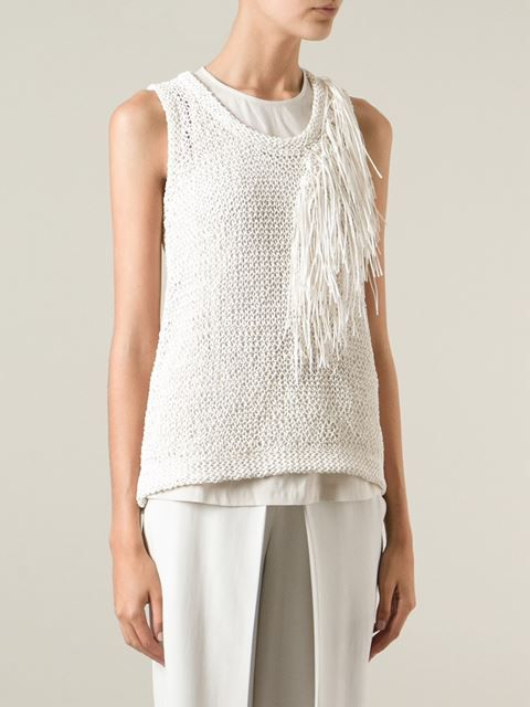 Brunello Cucinelli Crocheted Tank - Tootsies - Farfetch.com