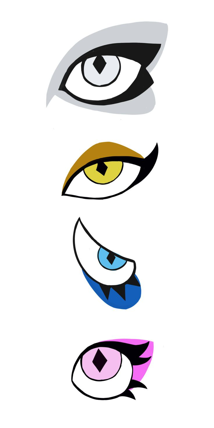 The Eyes of The Diamonds, White, Yellow, Blue, and Pink.
