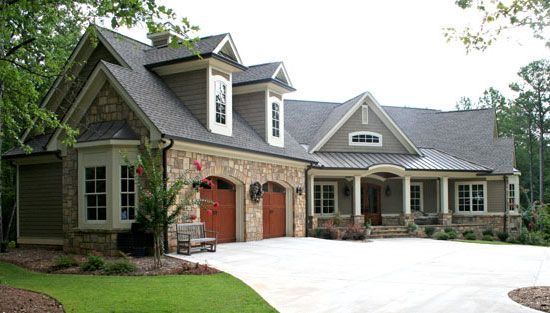 I really like the front of this house. Maybe extend the porch around and screened in the back.