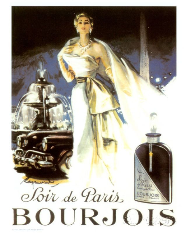 Soir de Paris, Bourjois Kunstdruck 24 x 30cm Deko Wandkunst Wandtattoos