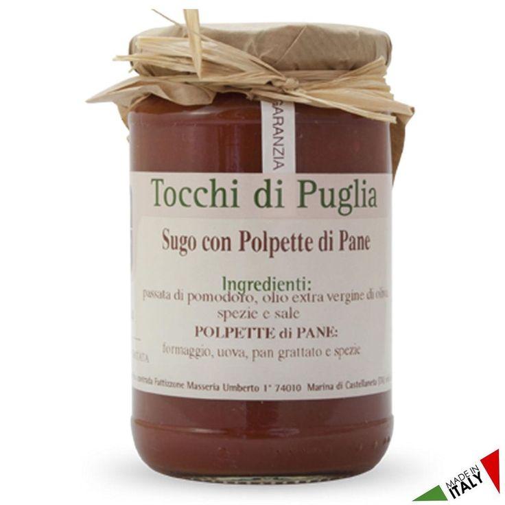 SUGO CON POLPETTE DI PANE GR 280 TOCCHI DI PUGLIA  (070918)