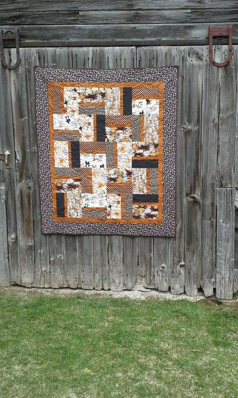 """Handmade cat quilt for girl.  Perfect size of 48"""" x 56"""".  Click on photo for more views, www.etsy.com/shop/sewingatten #wisconsinmade  #madeinwisconsin"""