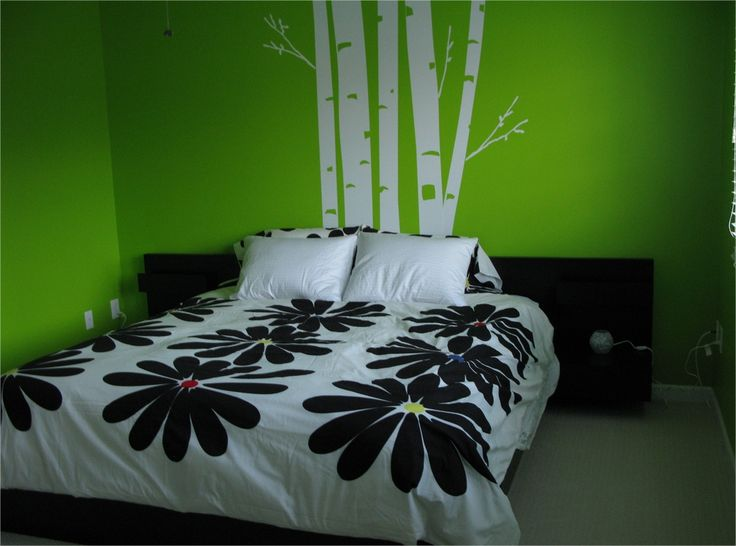 #tree #green #bamboo #bedroom #walldecal #decals #viniles #vinil