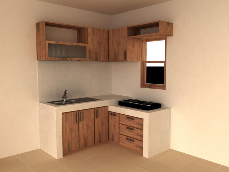 natural teakwood recycled kitchen very simple and compact