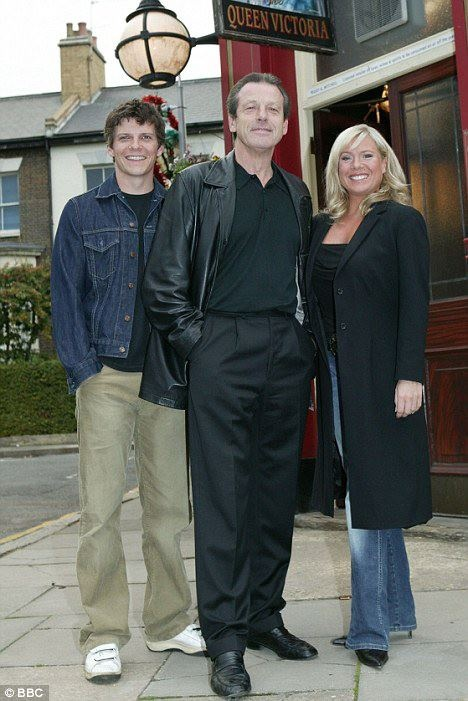 Dennis Rickman, Dennis Watts and Sharon Watts Rickman Played by Nigel Harman, Leslie Grantham and Letitia Dean.