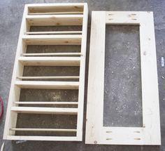 How To Build A DIY Spice Rack, put copper Larry horse print in door