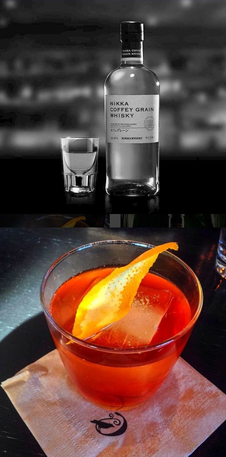 Before and After: Old Fashioned w/ Nikka Coffee Grain Whiskey