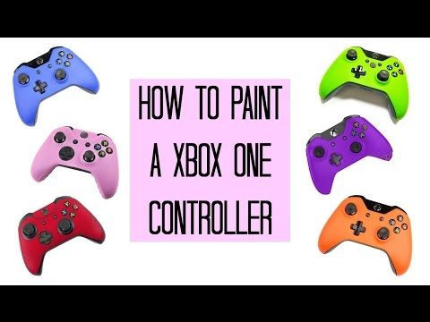DIY HOW TO PAINT XBOX ONE CONTROLLER step by step - YouTube