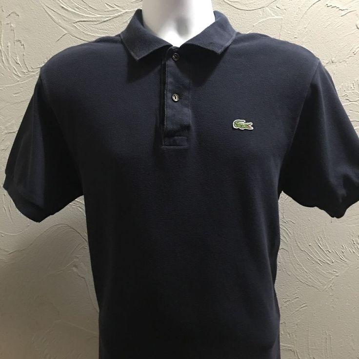 Lacoste Polo Shirt Mens Dark Navy Blue Short Sleeve Size 5 or Medium U S | eBay