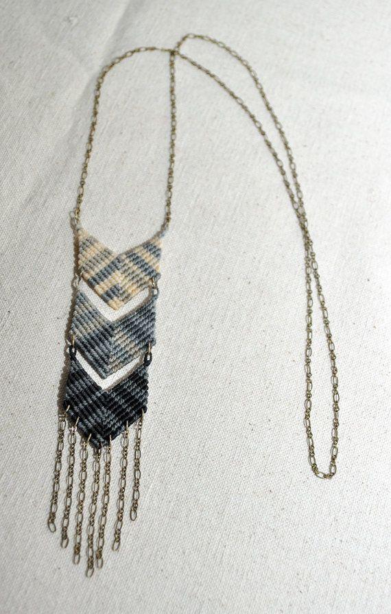 Amira Mednick - Triple Chevron Fade Macrame Necklace