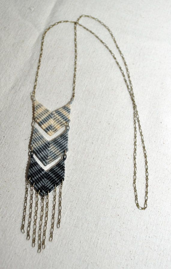 Amira Mednick - Triple Chevron Fade Macrame Necklace
