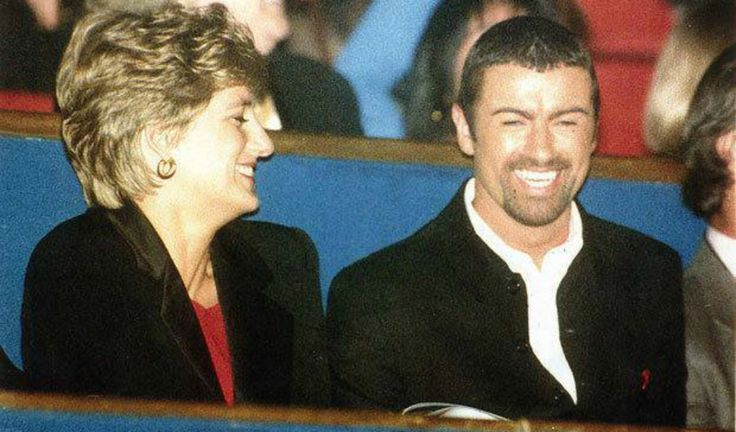 Diana, Princess of Wales with singer George Michael at the Concert of Hope - World AIDS day #GeorgeMichael #wham