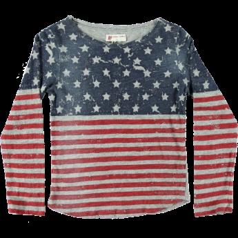 Dit mooie multi-colour shirt Authentic Jers van American Outfitters, met de 'stars and stripes' Amerikaanse vlag laat alle kids genieten van topkwaliteit. Gemaakt van luchtig katoen.