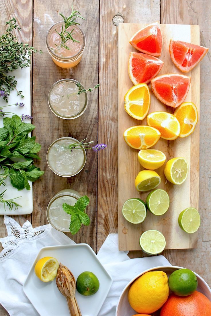 Mix and Match Herbal Tom Collins Cocktail with Lavender, Thyme, Mint or Rosemary