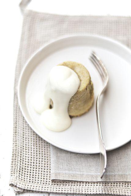 cardoons flan with warm parmesan cheese fondue