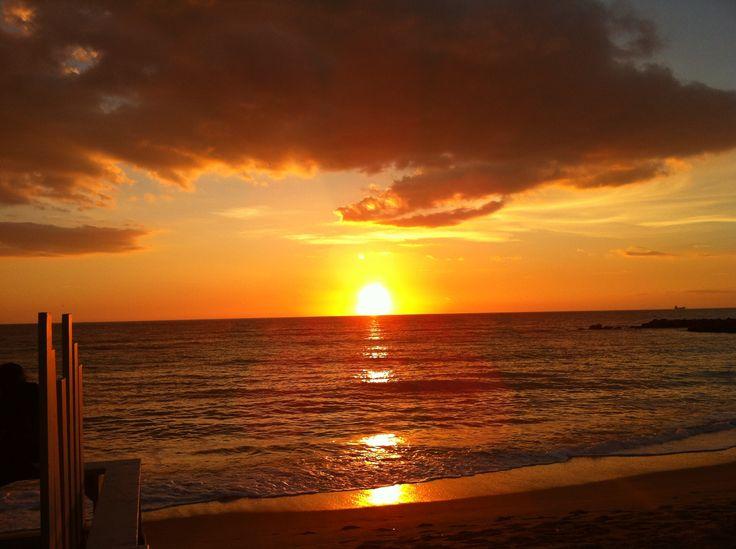 sea fire sunset
