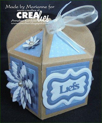 Cupcakedoosje  Crealies stansen/dies: Crealies Create A Box no. 10 Uno no. 36…