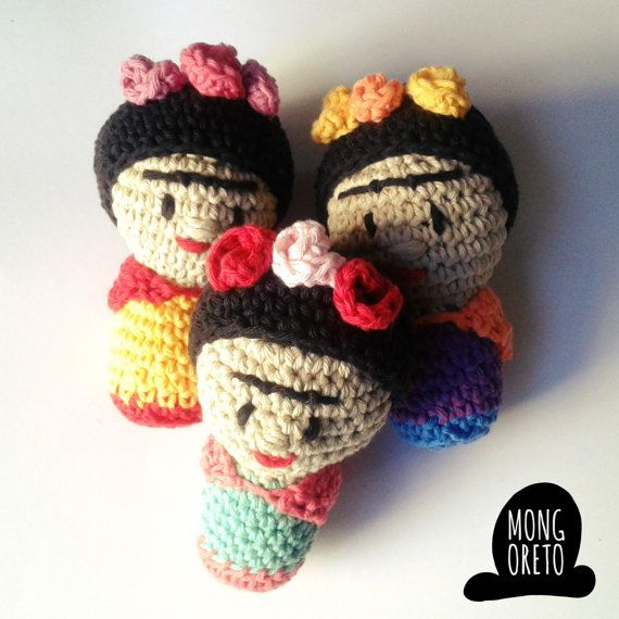 Amigurumi Pattern Frida Kahlo by Mongoreto on Etsy