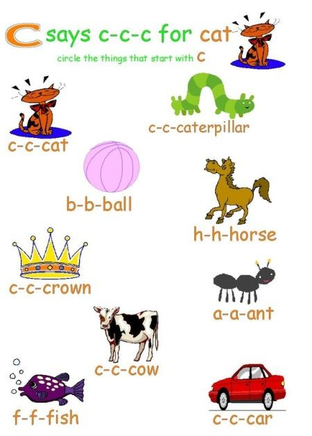 Things That Start With The Letter C For Kids kids activity sheets on ...